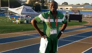 Coach Aliyu Solomon of the Nigeria Police Force during training. Photo credit: Punch Newspaper