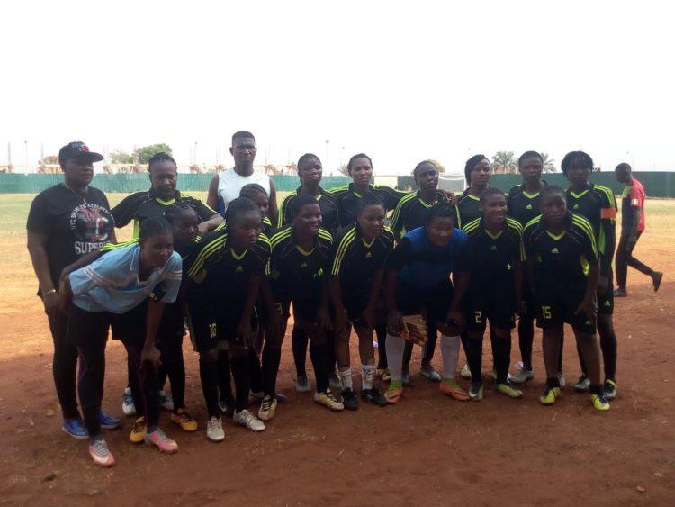 Nigerian Police Female athletes. Photo credit: Twitter