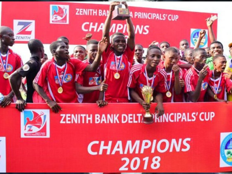 Zappa Mixed School of Commerce won the 2018 edition of the Delta State Zenith Principal Cup Football Competition. Photo Credit: ThisDaylive
