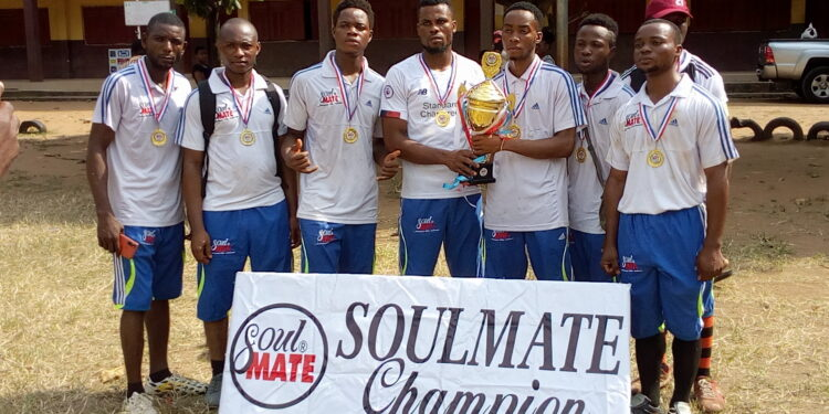 Sublime Natural FC pose with the trophy